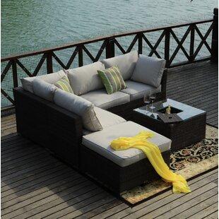 Vandenberg 5 Seater Rattan Sofa Set By Sol 72 Outdoor