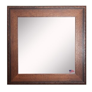 Darby Home Co Square Timber Estate Wall Mirror