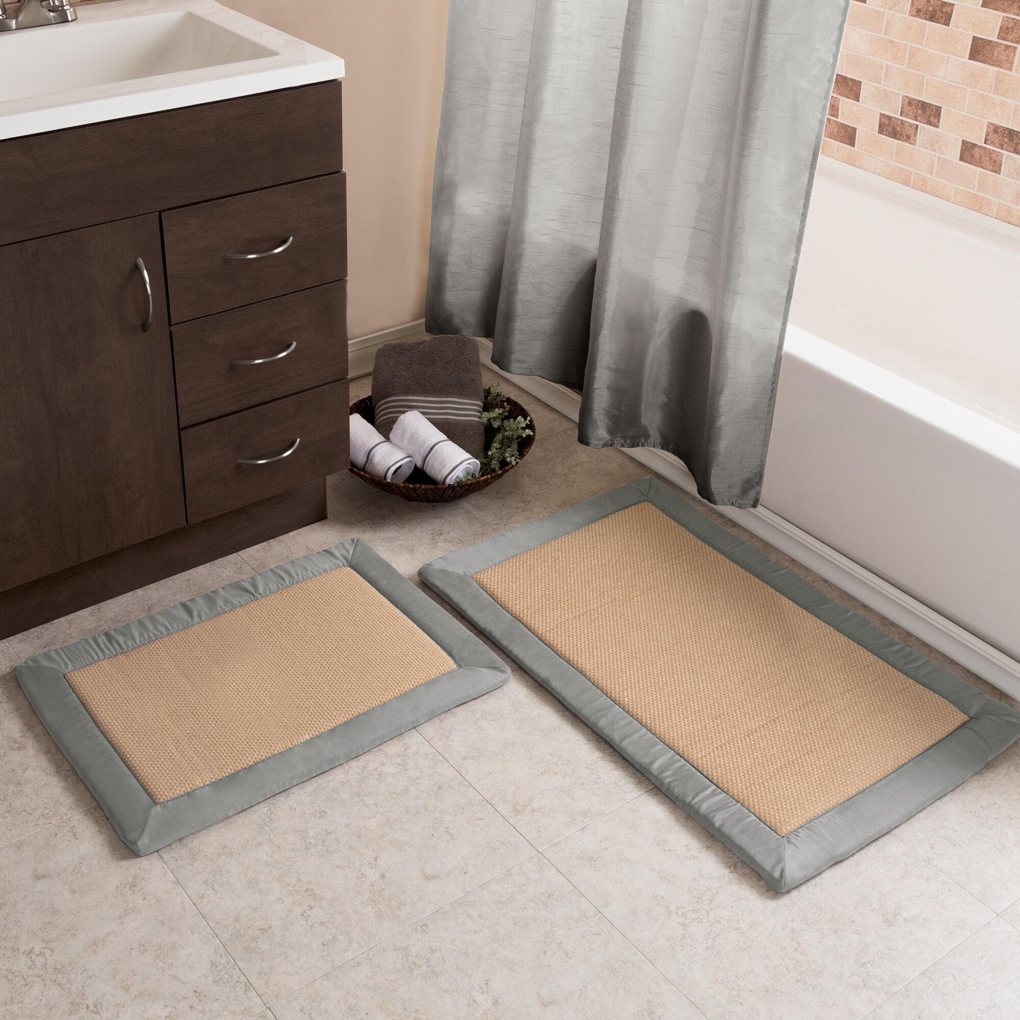 Bath 3 Piece Super Soft Microfiber Memory Foam Bath Mat Set Blocks Design Yellow Home Furniture Diy Tohoku Morinagamilk Co Jp