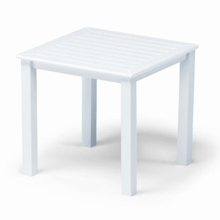 Marine Grade Polymer Tables Square Aluminum Side Table