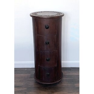 Channahon 4 Drawer Bedside Table By World Menagerie