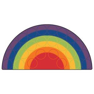 Emerado Rainbow Rows Corner Area Rug