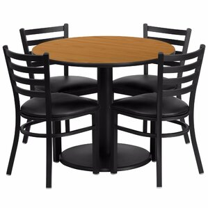Amato Round 5 Piece Dining Set by Red Barrel Stu..