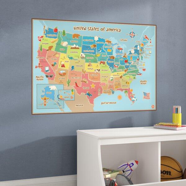 United States Map Wall Mural.Viv Rae Lucas Usa Map Wall Mural Reviews Wayfair