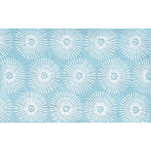 Purchase Hand-Hooked Aqua Area Rug By The Conestoga Trading Co.