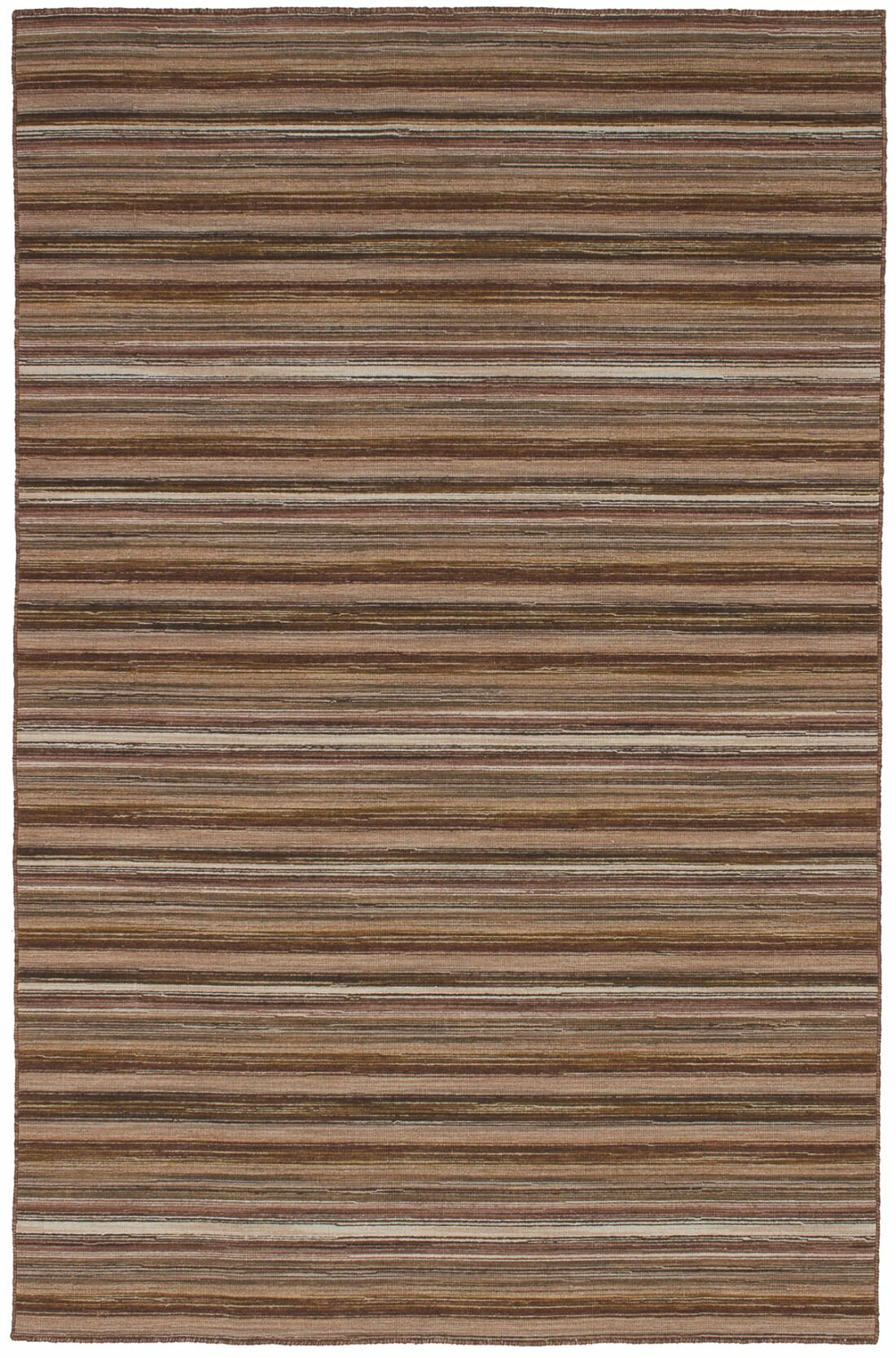 Highland Dunes One Of A Kind Wickman Handwoven 4 11 X 7 10 Wool Brown Area Rug Wayfair