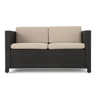Furst Outdoor Wicker Loveseat with Cushions
