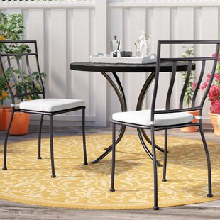 Ramos Stacking Patio Dining Chair with Cushion (Set of 2)