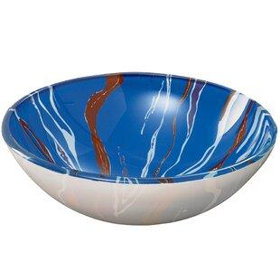 Affordable Translucence Glass Circular Vessel Bathroom Sink By DECOLAV