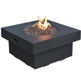 Concrete Gas Fire Pit Table By Elementi