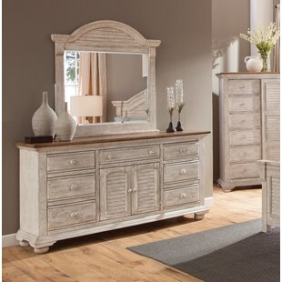 Wabansia 7 Drawer Combo Dresser with Mirror