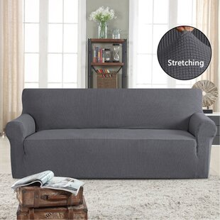 Stretch Box Cushion Sofa Slipcover By Symple Stuff