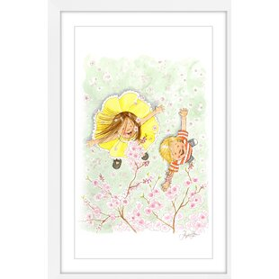 Blossom Shower' by Phyllis Harris Framed Graphic Art by Marmont Hill