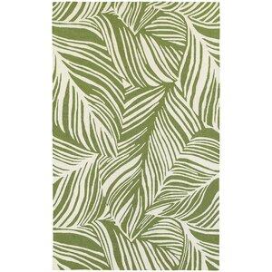 Atrium Tropical Leaf Green/Ivory Indoor/Outdoor Area Rug