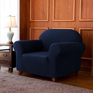 1-Piece Jacquard High Stretch Box Cushion Armchair Slipcover By Winston Porter