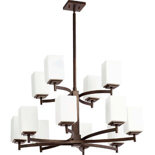 Wade Logan Hobart 12-Light Shaded Chandelier