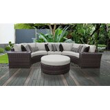 River Brook 6 Piece Rattan Sectional Seating Group with Cushions