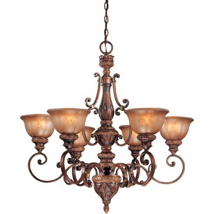 Fleur De Lis Living Dee 6-Light Shaded Chandelier