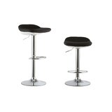 Cedillo 2 Piece Adjustable Height Swivel Bar Stool Set (Set of 2) by Orren Ellis