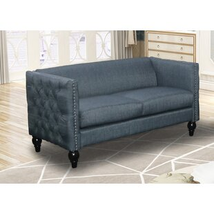 Annuziata Living Room Loveseat by House of Hampton Today Sale Only
