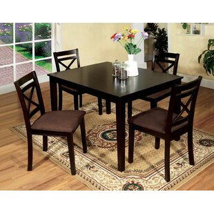 Thor 5 Piece Solid Wood Dining Set Red Barrel Studio