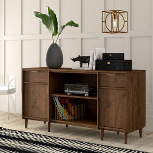 Cutrer 2 Drawer Credenza Desk by Mercury Row Wonderful