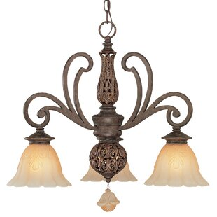 Classic Lighting Riviera 3-Light Shaded Chandelier