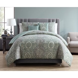 Charlton Home Hanover 5 Piece Reversible Comforter Set