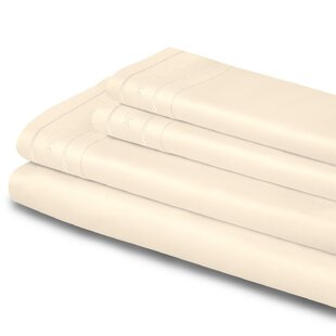 Cullen Embroidered 1000 Thread Count Solid Color 100% Egyptian-Quality Cotton Sheet Set