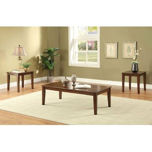 Gastelum Wooden 3 Piece Coffee Table Set