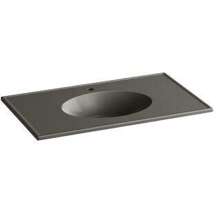 Find a Ceramic Impressions Ceramic Rectangular Dual Mount Bathroom Sink with Overflow ByKohler