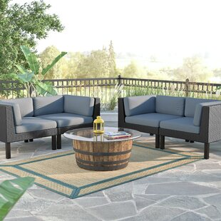 Zoar 4 Piece Sofa Set with Cushions By Breakwater Bay