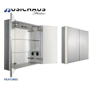 Look for Musichaus 27.5 x 31.5 Surface Mount Medicine Cabinet with LED Lighting By Whitehaus Collection