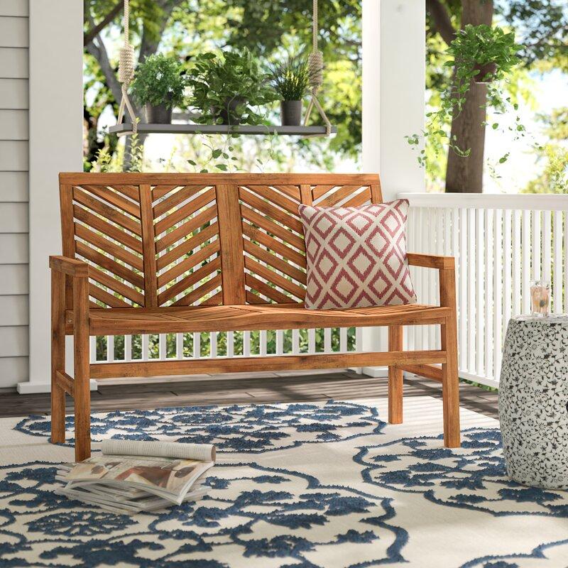 Skoog+Chevron+Wooden+Garden+Bench