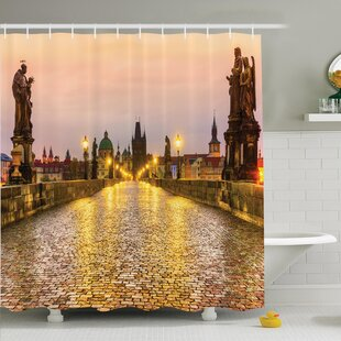 Cityscape Old Town in Prague Shower Curtain