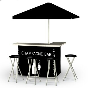 Champagne 8 Piece Bar Set ..