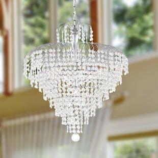 House of Hampton Carson 7-Light Crystal Chandelier