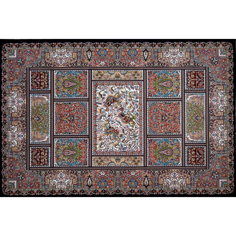 Astoria Grand Mailloux Hand Look Persian Wool Green Red Ivory Area Rug Wayfair