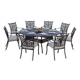 Archway Traditional 9 Piece Dining Set with Cushions