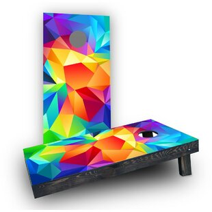 Custom Cornhole Boards Bright Colored Flipped Prisms Cornhole Boards (Set of 2)
