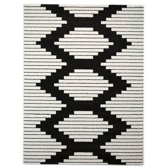Union Rustic Stallworth Geometric Black Off White Area Rug Wayfair