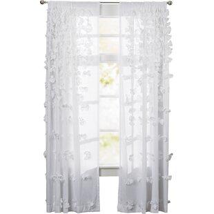 Clarkstown Solid Sheer Rod Pocket Single Curtain Panel byOphelia & Co.