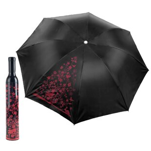 Winston Porter Hawkesbury Wine Bottle 3' Beach Umbrella