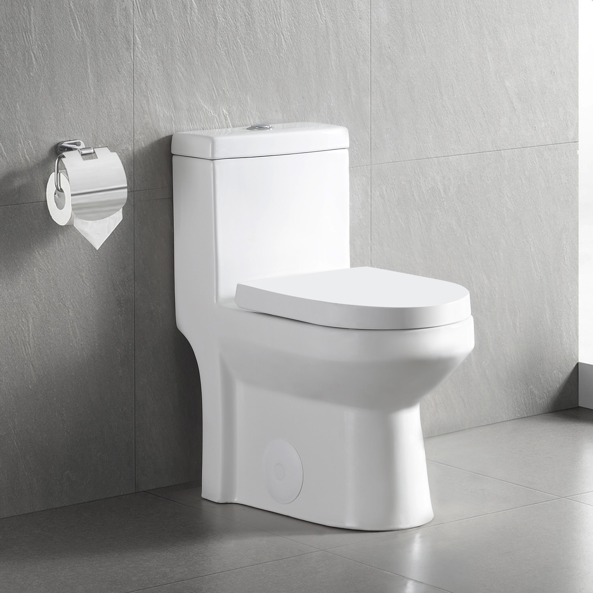 DeerValley Dual-Flush Elongated One-Piece Toilet (Seat Included) & Reviews  | Wayfair