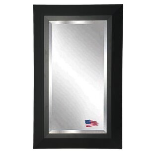 Latitude Run Rectangle Black Framed Wall Mirror