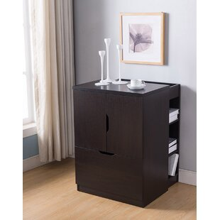 Katherin Wooden 1-Drawer Vertical Filing Cabinet