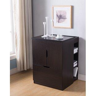 Katherin Wooden 1-Drawer Vertical Filing Cabinet