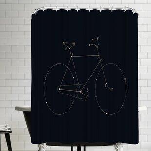Reviews Florent Bodart Bike Constellation Shower Curtain ByEast Urban Home