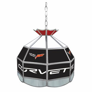 Corvette Stained Glass Round Tiffany Lamp by Trademark Global