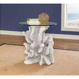 Geomar Reef End Table by Highland Dunes